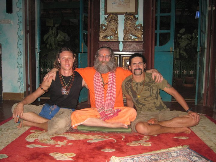 with Rampuri Baba and Tim