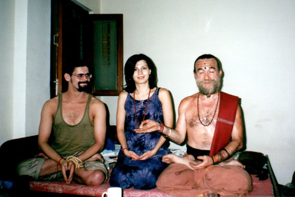 with Swami Nataraja Maharaja and Marina