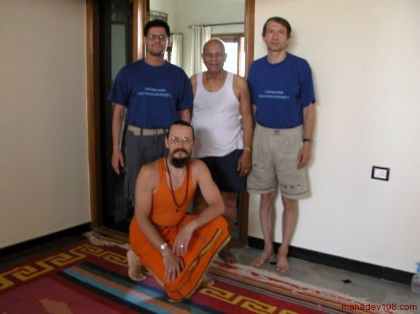 with Shri K. Pattabhi Jois, Mysore 2003