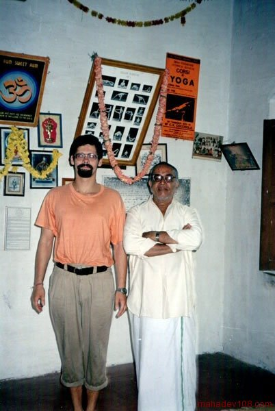 with BNS Iyengar, Mysore 2001