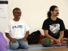 with Dr. Madhavan Munusamy, translating pranayama workshop