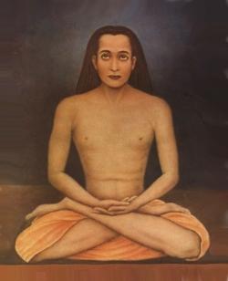 Рисунок Махаватара Бабаджи, выполненный братом Парамахамсы Йогананды по его рассказу (Йогананда встречался с Бабаджи)